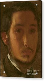 Self-portrait With White Collar Acrylic Print by Edgar Degas
