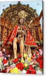 Senhor Bom Jesus Da Pedra Acrylic Print by Gaspar Avila