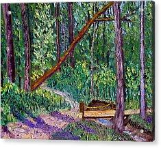 Sewp Trail Bridge Acrylic Print by Stan Hamilton
