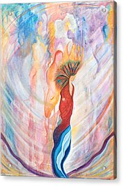 Shamans Dream Acrylic Print by Leti C Stiles