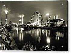 Acrylic Print featuring the photograph Shanghai Nights by Chris Cousins