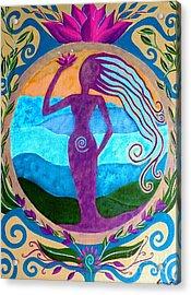 She Heals Acrylic Print