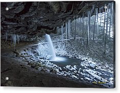 Sheltered From The Blizzard Signed Acrylic Print