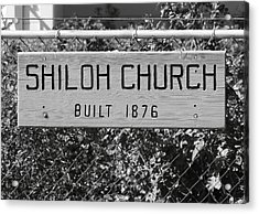 Shiloh Church Sign Birds Landing Ca Acrylic Print by Troy Montemayor