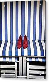 Shoes In A Beach Chair Acrylic Print by Joana Kruse