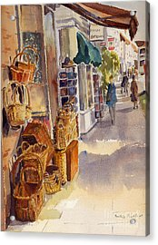 Acrylic Print featuring the painting Shopping In Tenterden by Beatrice Cloake