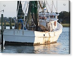 Shrimp Boat Acrylic Print by Dustin K Ryan