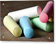 Sidewalk Chalk I Acrylic Print by Tom Mc Nemar