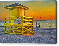 Siesta Key Sunset Acrylic Print by Dennis Cox WorldViews