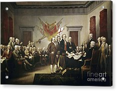 Signing The Declaration Of Independence Acrylic Print by John Trumbull
