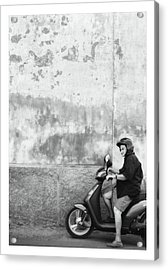Signora Black And White Acrylic Print by Marco Hietberg