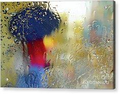 Silhouette In The Rain Acrylic Print
