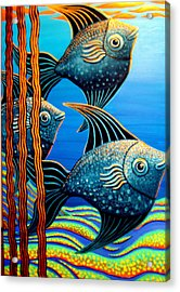 Sillyfish 3 Acrylic Print by Barbara Stirrup