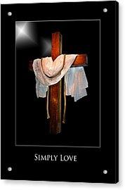 Simply Love Acrylic Print by Richard Gordon