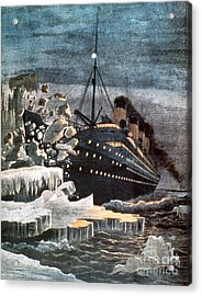 Sinking Of The Titanic Acrylic Print by Granger