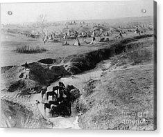 Sioux Camp At Pine Ridge, 1891 Acrylic Print