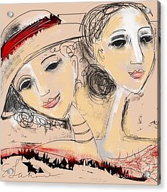 Sisters Acrylic Print by Elaine Lanoue