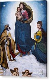 Sistine Madonna Acrylic Print by Judy Kirouac