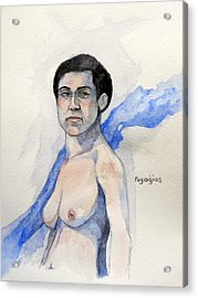 Acrylic Print featuring the painting Sketch For Gabrielle by Ray Agius