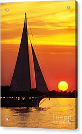 Skipjack At Sunset Acrylic Print