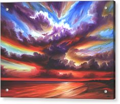Acrylic Print featuring the painting Skyburst by James Christopher Hill