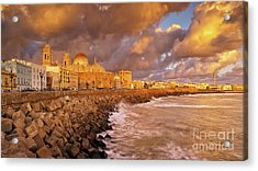 Skyline From Campo Del Sur Cadiz Spain Acrylic Print