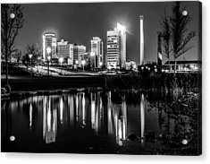 Skyline Of Birmingham Alabama From Railroad Park Acrylic Print by Alex Grichenko