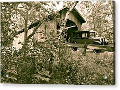 Slaughter House Covered Bridge In Northfield Vermont Acrylic Print