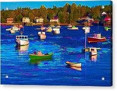 Sleeping Boats II Acrylic Print by Jon Glaser
