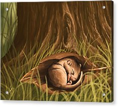 Acrylic Print featuring the painting Sleeping  by Veronica Minozzi