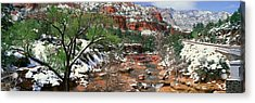 Slide Rock Creek In Wintertime, Sedona Acrylic Print by Panoramic Images