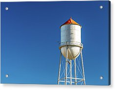 Small Town Water Tower Acrylic Print by Todd Klassy