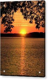 Smith Mountain Lake Silhouette Sunset Acrylic Print