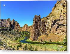 Acrylic Print featuring the photograph Smith Rock by Jonny D