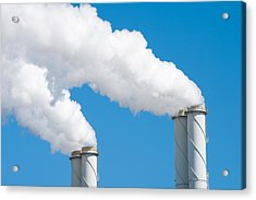 Smoking Chimneys Acrylic Print by Hans Engbers