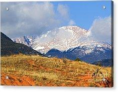 Snow Capped Pikes Peak Colorado Acrylic Print