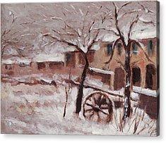 Snow On The Farmhouse Acrylic Print by Mario Zampedroni