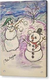 Snowball Fight Acrylic Print