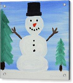 Snowman Acrylic Print