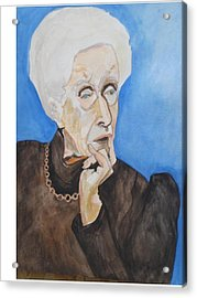 Acrylic Print featuring the painting So Curious by Esther Newman-Cohen