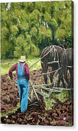 Sod Buster Acrylic Print by Carl Capps