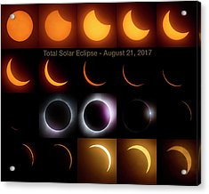 Solar Eclipse - August 21 2017 Acrylic Print by Art Whitton
