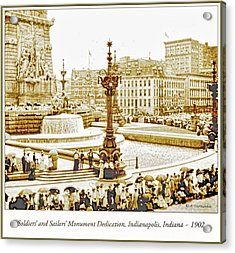 Soldiers' And Sailors' Monument Dedication, Indianapolis, Indian Acrylic Print by A Gurmankin