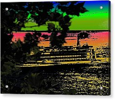 Soundside Treehouse View Acrylic Print by Tim Allen