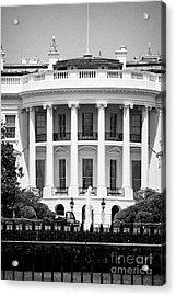 south facade of the white house Washington DC USA Acrylic Print by Joe Fox