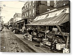 South Philly - Italian Market Acrylic Print by Bill Cannon