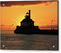 South Pier Sunrise Acrylic Print by Alison Gimpel