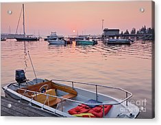 Acrylic Print featuring the photograph Southwest Harbor Sunrise by Susan Cole Kelly