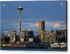 Space Needle Acrylic Print by Evgeny Vasenev