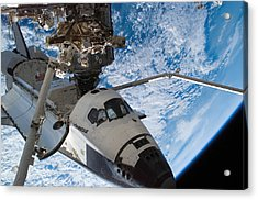 Space Shuttle Endeavour, Docked Acrylic Print